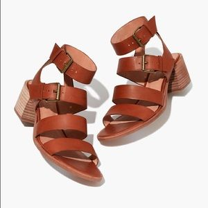Madewell The Quinn Leather Block Heel Sandals